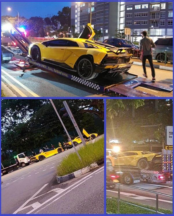 Lamborghini-Aventador-cars-towed
