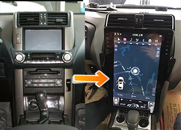 Tesla-screen-upgrade-on-Toyota-Prado