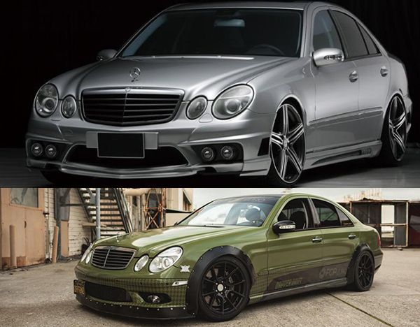 modified-widebody-W211-E-Class