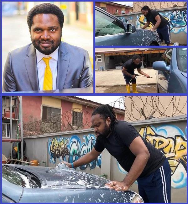 Cobhams-Asuquo-washing-car