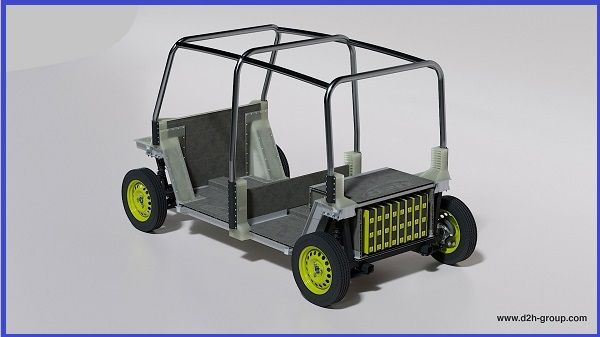 D2H-electric-chassis-for-Tuk-Tuk-Keke-Napep-back-view