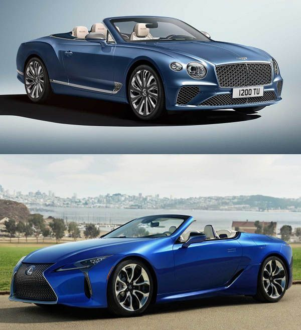 Bentley-Continental-GT-Mulliner-and-Lexus-LC-500-Convertible