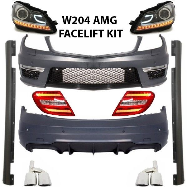 Benz-C300-AMG-Upgrade-Facelift-conversion-kit