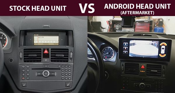 Android-screen-for-W204-Mercedes-Benz