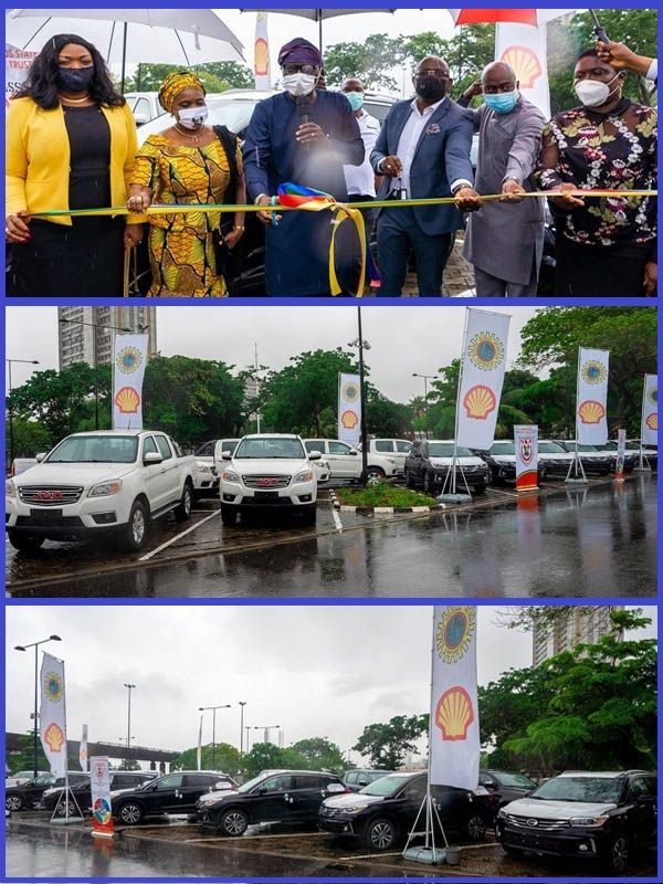 Governor-Babajide-Sanwo-Olu-receives-new-security-vehicles-donated-by-NNPC-and-Shell