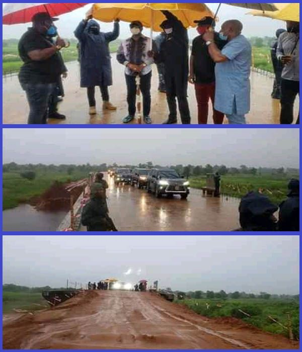 Governor-Willie-Obiano-inspects-road-project-inside-rain-in-Anambra
