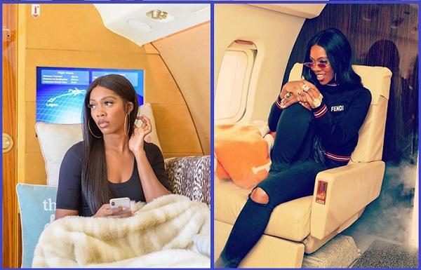 Tiwa-Savage-poses-inside-private-jets