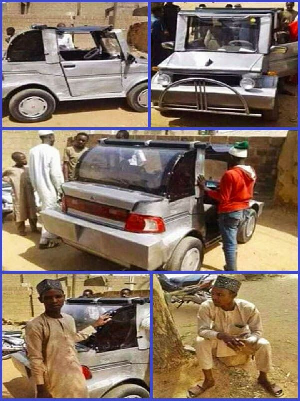 Muhammad-Mustapha-from-Gombe-state-and-his-locally-built-car