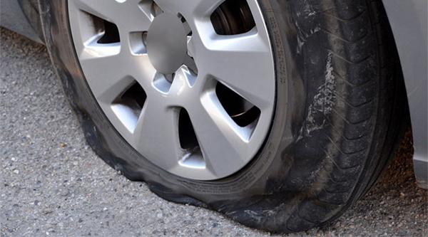 Damaged-car-tyre