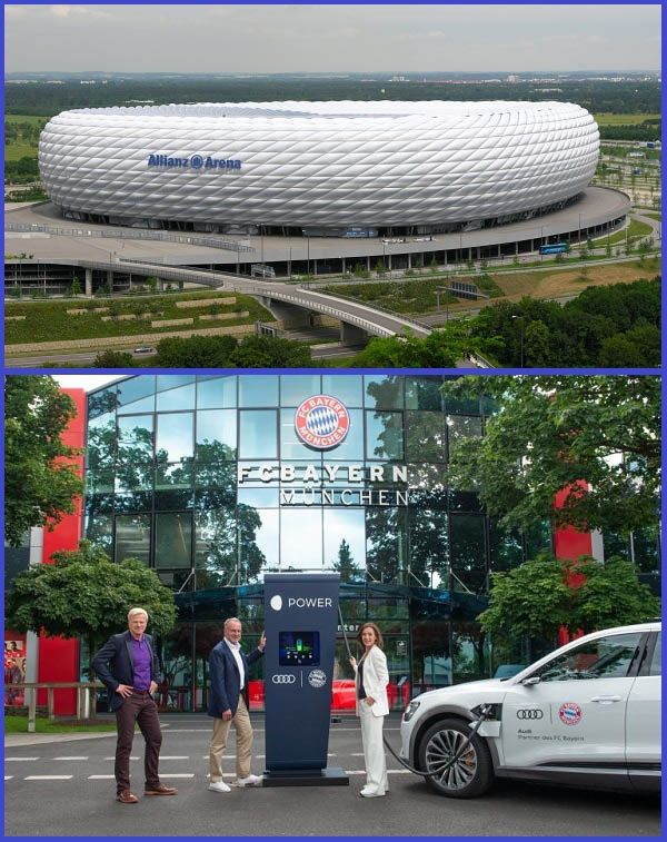Audi-and-FC-Bayern-Munich-executives-sign-of-EV-charging-point-project
