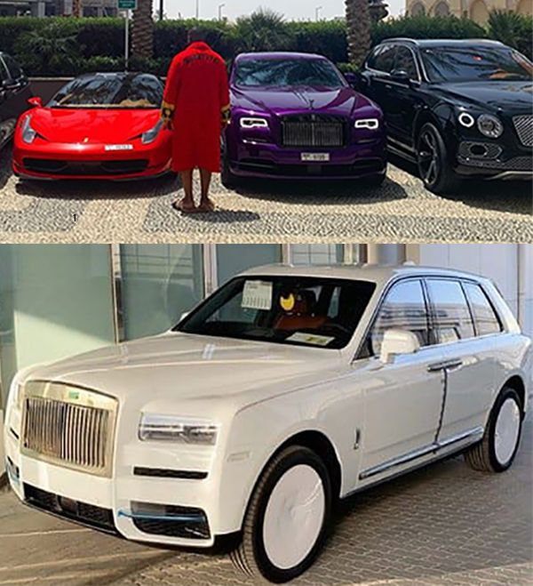 Hush-puppi-collection-of-cars