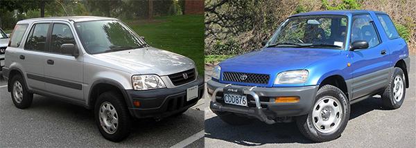 1995-Toyota-Rav4-vs-Honda-CRV-exterior