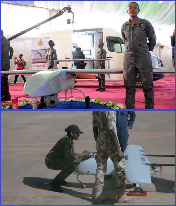 Lieutenant-Nkemdilim-Anulika-Ofodile-working-on-Tsaigumi-Tactical-UAV