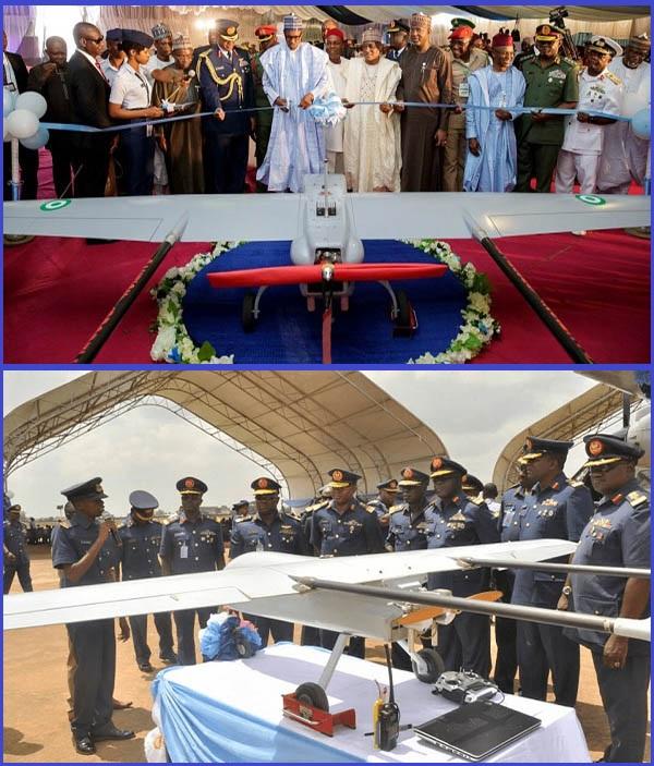 NAF-officials-present-Tsaigumi-UAV-to-President-Buhari