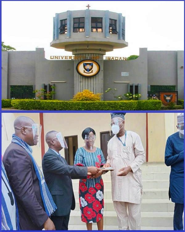 VC-of-University-of-Ibadan-receiving-keys-to-bus-donated-to-faculty-of-Pharmacy
