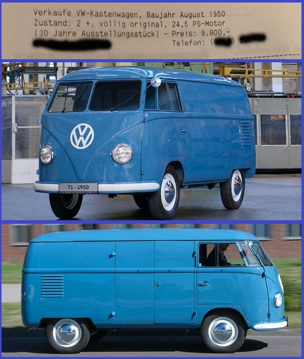 First-production-unit-of-the-1950-Volkswagen-T1-Kombi-bus-model
