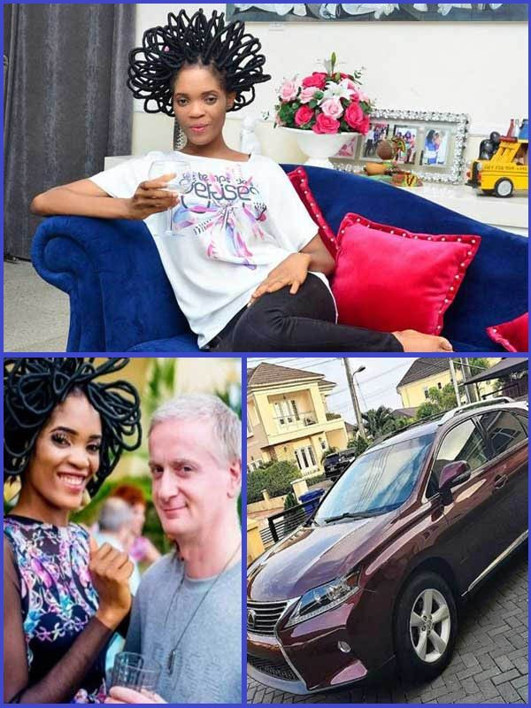 Actress-Chika-Lann-buys-a-brand-new-Lexus-RX-350-SUV-for-her-husband