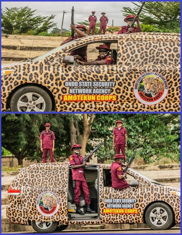 Ondo-state-Amotekun-security-corps-poses-with-operational-vehicles