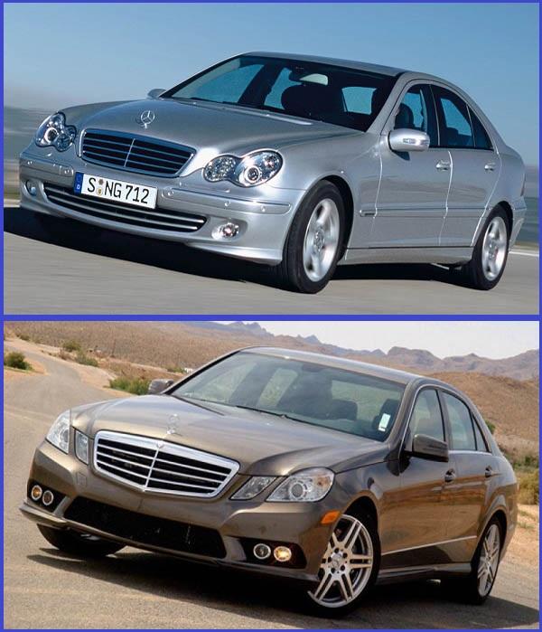2007-Mercedes-Benz-C-Class-model-and-2010-Mercedes-Benz-E-Class