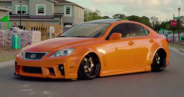 Heavily-modified-orange-Lexus-IS