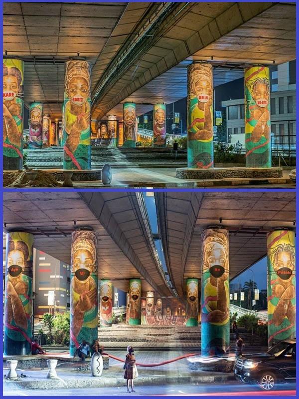 Murals-on-supporting-pillars-of-Falomo-bridge