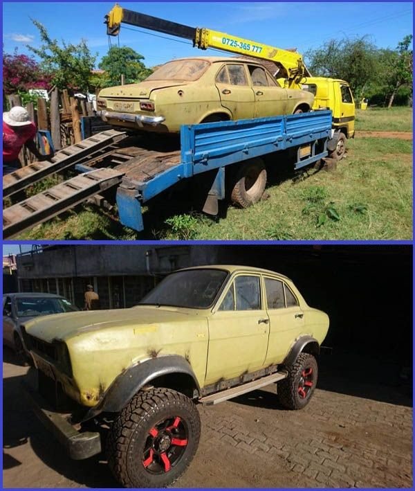 Old-Ford-Escort-MK1-sedan-transformed-into-strong-offroader-by-Kenyan-artist