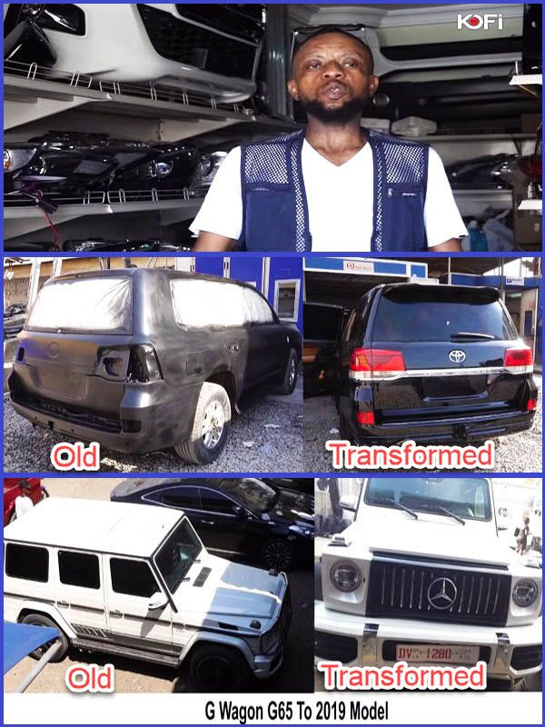 Osei-Nyame-Ghanaian-mechanic-that-transforms-old-cars-models-to-new-one