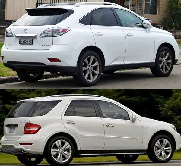 2010-Mercedes-Benz-ML-350-VS-Lexus-RX-350-rear-view