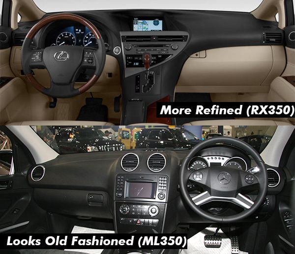 2010-Mercedes-Benz-ML-350-VS-Lexus-RX-350-interior