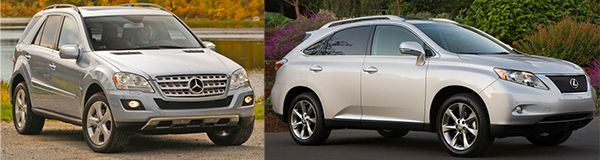2010-Mercedes-Benz-ML-350-VS-Lexus-RX-350-front-view