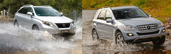 2010-Mercedes-Benz-ML-350-VS-Lexus-RX-350-off-road