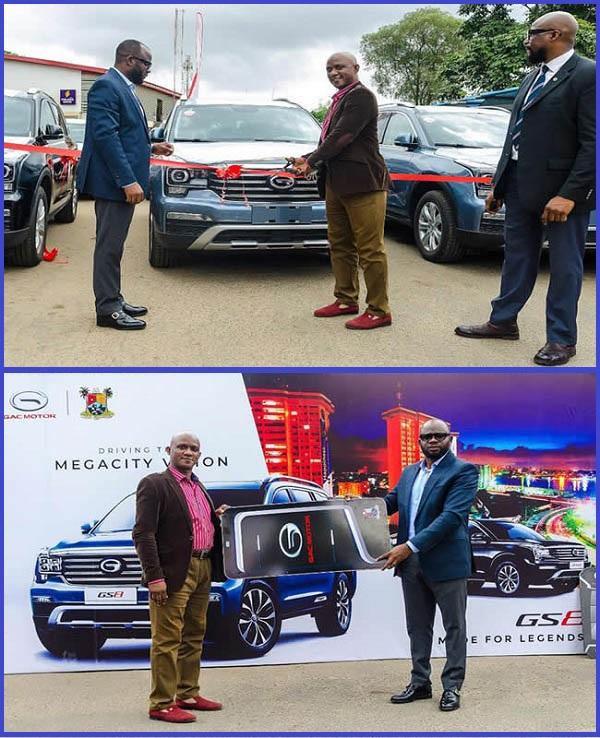 Executives-of-CIG-Motors-Nigeria-presenting-GAC-GS8-SUVs-to-Lagos-state-judges