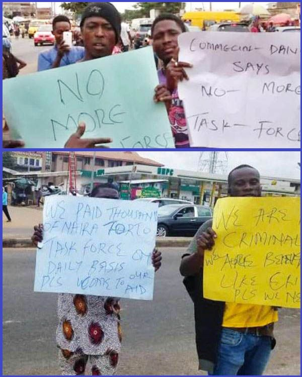 Lagos-commercial-drivers-protesting
