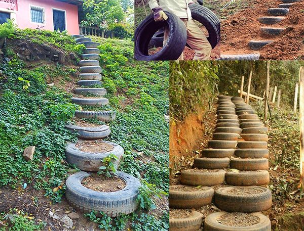 making-stair-cases-out-of-tyres