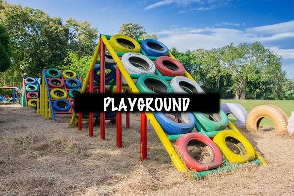 Playground-setup-using-car-tyres