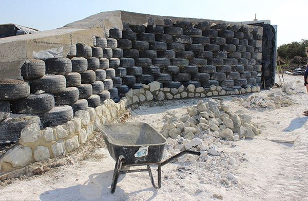 Walls-made-out-of-old-car-tyre