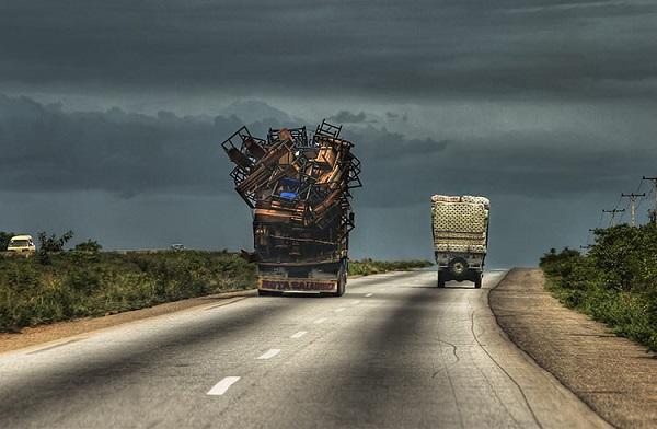 trucks-on-a-road