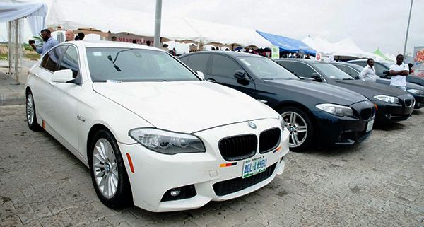 BMW-line-up-at-a-car-meet-in-Lagos