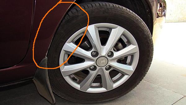 Tyre-touching-car-body