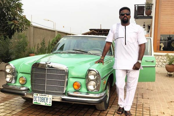 Kunle-Afolayan-and-a-classic-Benz