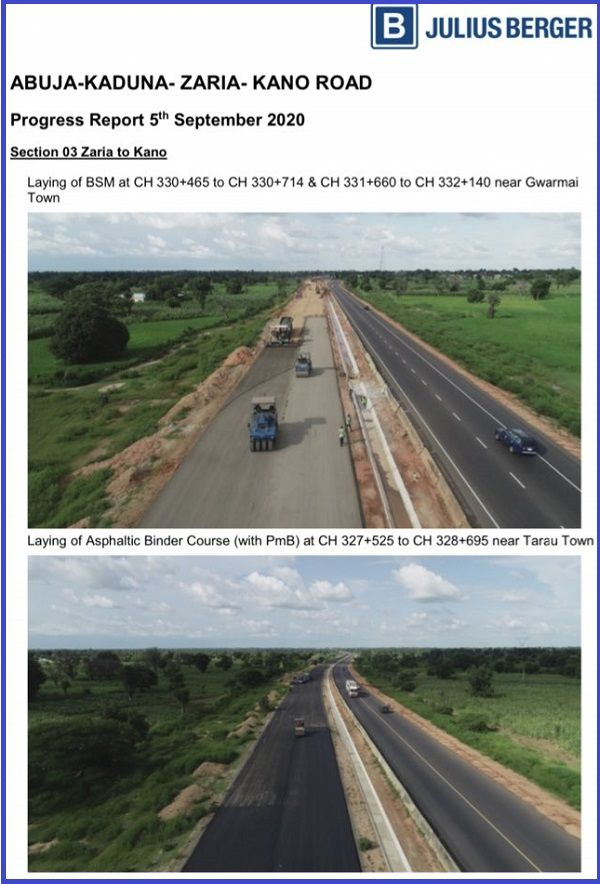 Progress-report-on-Abuja-Kaduna-Zaria-Kano-road-project-released-by-Julius-Berger