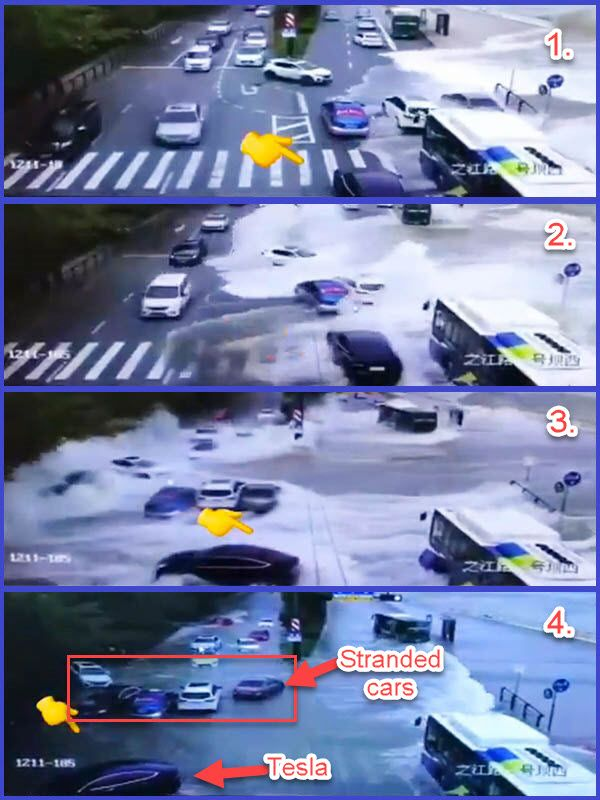 Tesla-car-seen-driving-off-after-being-hit-by-ocean-waves-in-China