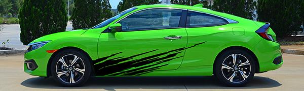 Green-and-black-Honda-Civic