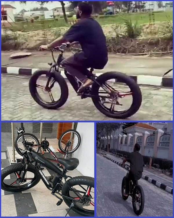 Nigeria-musician-Davido-riding-an-expensive-Mercedes-Benz-bicycle