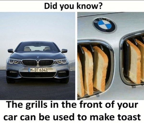 bmw-car-and-bread-in-grille