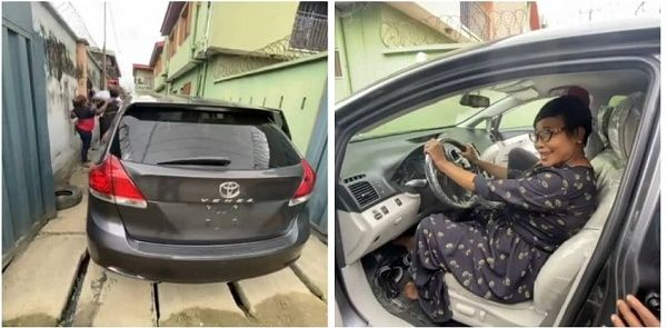 Alex-ekubo-mother-and-her-toyota-venza-car-gift