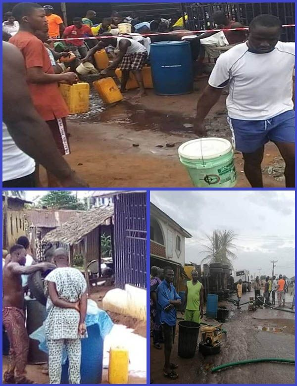 Lagos-resident-rush-to-scoop-fuel-from-fallen-tanker