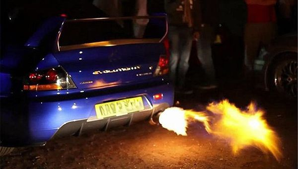 Fire-coming-out-of-car-exhaust