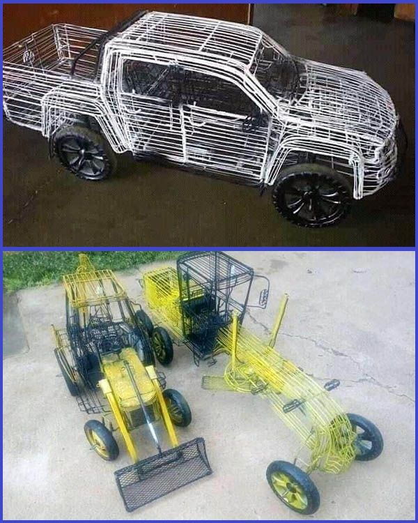 Photos-of-trucks-and-different-car-prototypes-made-by-Nigerian-man-using-wire