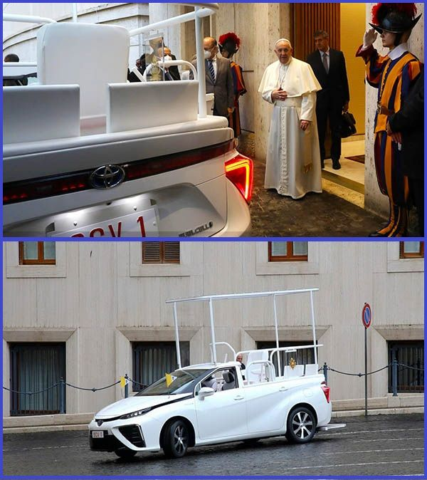 Photos-of-Pope-Francis-new-hydrogen-powered-Toyota-Mirai-Popemobile
